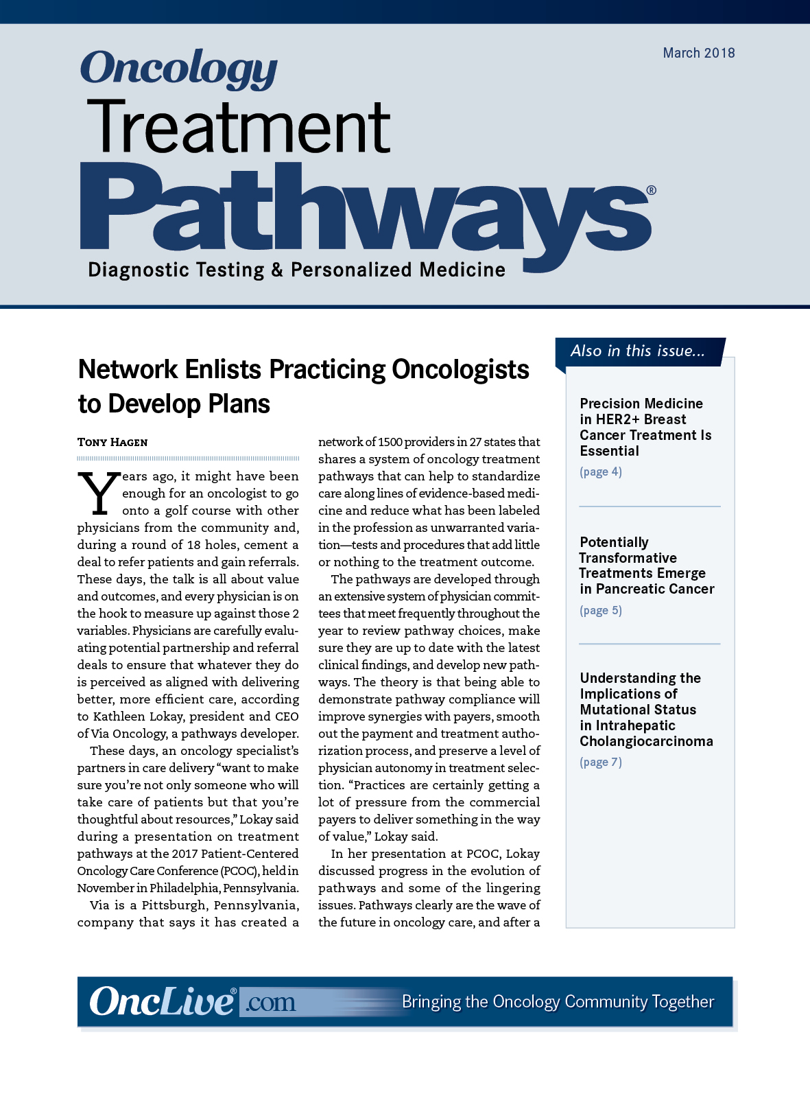 Oncology Treatment Pathways®